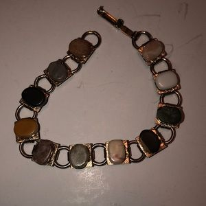 Jewelry - Multi colored stone and silver bracelet
